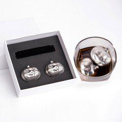Stainless Steel 2 PCS Pumpkin Ice Cubes Stone Set
