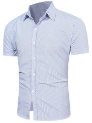 Short Sleeve Vertical Striped Shirt