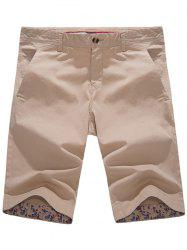 Zip Fly Pockets Bermuda Shorts