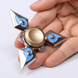 Metal EDC Fidget Hand Tri-Spinner Toy For Relaxing - SILVER