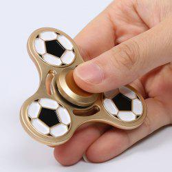 Football Pattern Metal Fidget Spinner For Killing Time - GOLDEN