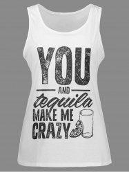 Racerback Graphic Printed Tank Top