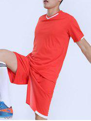 High School Short Sleeve Soccer Jersey Sports Suit