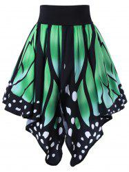 High Waist Butterfly Shape Graphic Skirt
