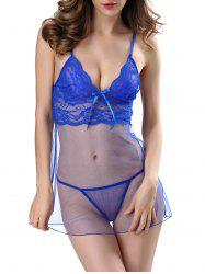 Lingerie Lace Panel Mesh Sheer Camisole