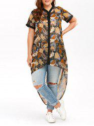 Plus Size High Low Chiffon Top