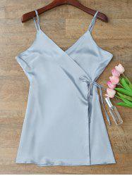 Silky Cami Wrap Slip Dress -