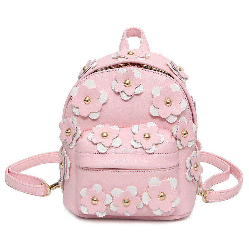 Best Flowers Faux Leather Mini Backpack