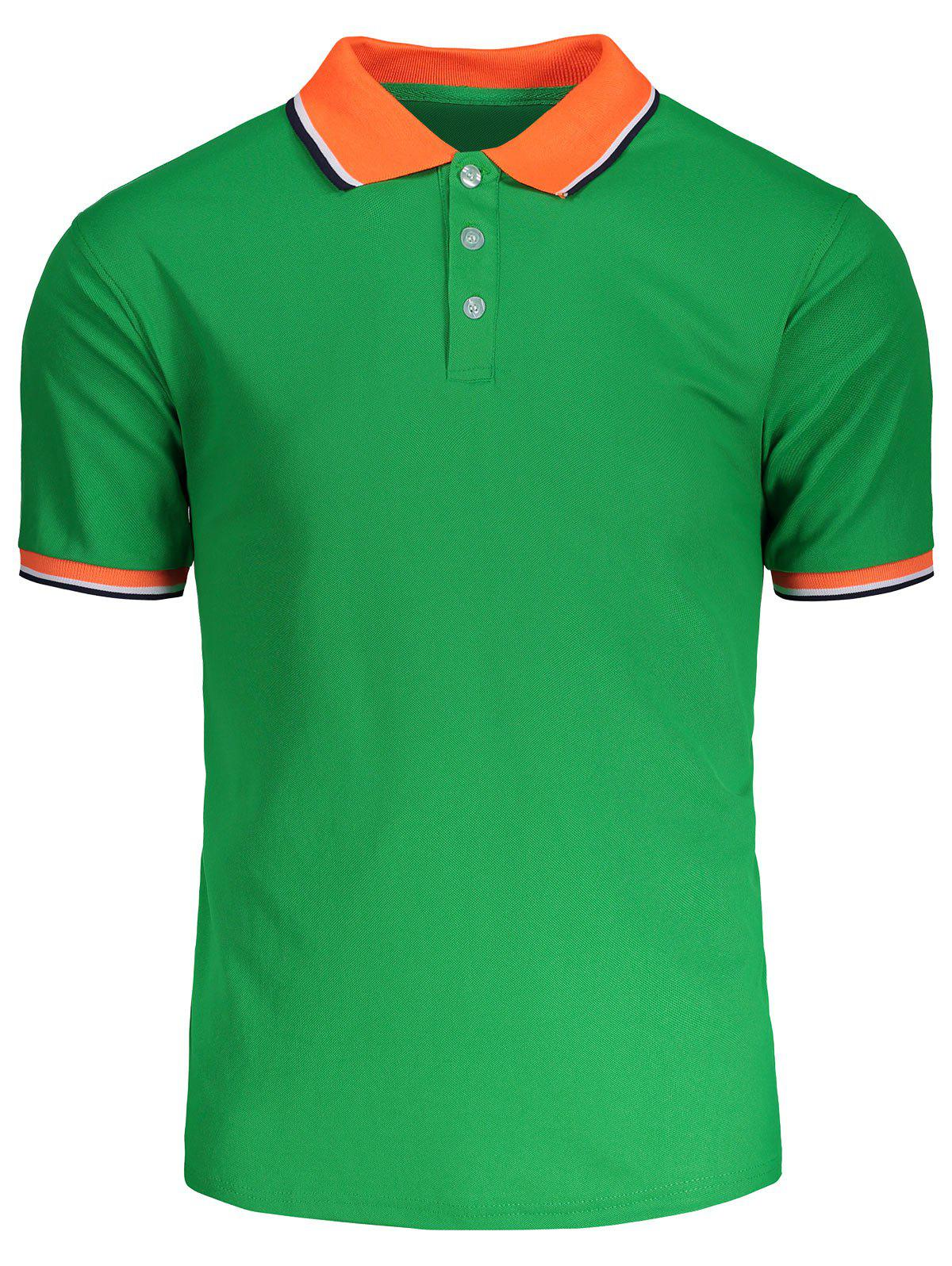 Latest Color Block Short Sleeves Polo Shirt
