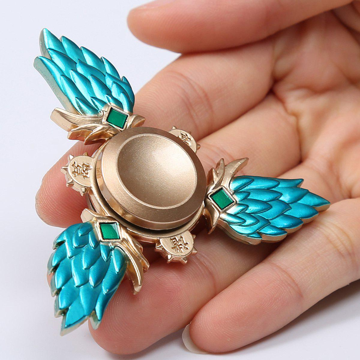 High Speed Metal Fidget Spinner Stress Relief ToyHOME<br><br>Size: 7.7*7.5*1.2CM; Color: LAKE BLUE; Products Type: Fidget Spinner; Theme: Funny; Frame material: Metal; Features: Creative Toy; Shape/Pattern: Triangle; Swing Numbers: Tri-Bar; Weight: 0.0650kg; Package Contents: 1 x Fidget Spinner;