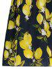 Flounce Lemon Print Dress -