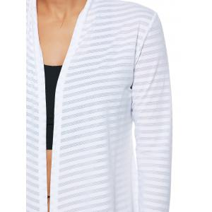 Collarless Quick Dry Front Wrap Top - WHITE L