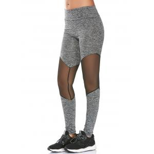 Mesh Panel High Rise Fitness Leggings