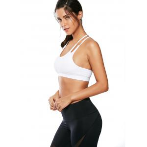 Caged Strappy Padded Sports Bra - WHITE L