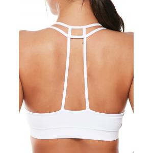 Caged Strappy Padded Sports Bra -