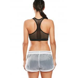 Fishnet Mesh Racerback Sports Padded  Bra -