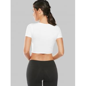 Mesh Panel Running Gym Cropped T-Shirt -