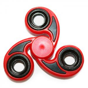 Stress Relief Toy Tri-Bar Finger Gyro Hand Spinner - Red - 6*6*1.2