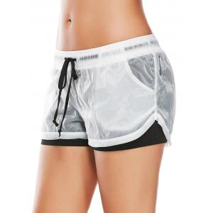 Layer Sports Drawstring Running Shorts - Noir L