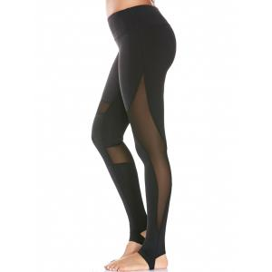Mesh Panel Yoga High Waist Stirrup Leggings