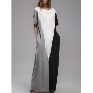 Dolman Sleeve Floor Length Casual Dress