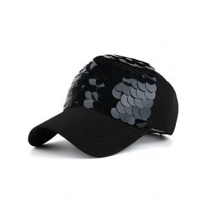 Twinkling Fish Scale Shape Baseball Hat - Full Black