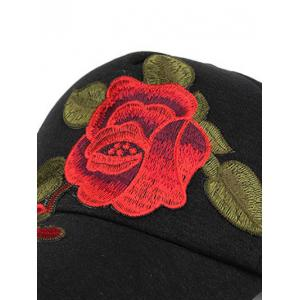 Showy Flower Embroidered Baseball Hat -