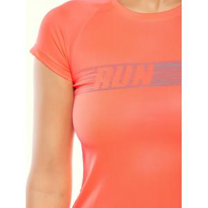 Graphic Quick Dry Running Gym T-Shirt -