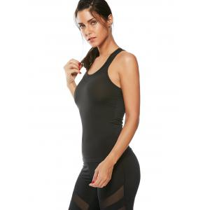 Mesh Insert Workout Running Tank Top -