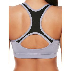 Strappy Sports Padded Bra et Layer Running Shorts - Gris L