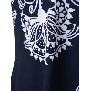 Bandana Floral V Neck Plus Size Tank Top -