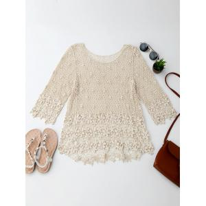 Asymmetric Crochet Blouse