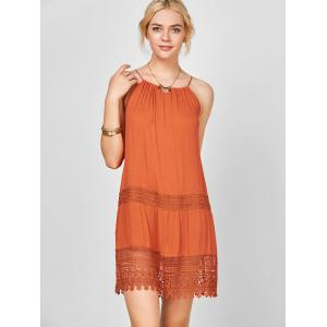Lace Trim Bohemian Slip Dress -