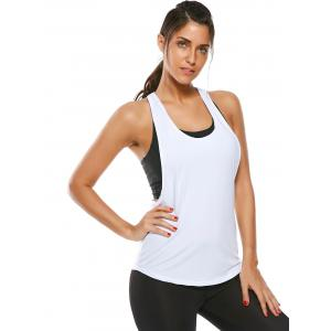 Racerback Work Out Layering Running Tank Top - Blanc L