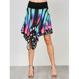 High Waist Butterfly Shape Graphic Skirt -