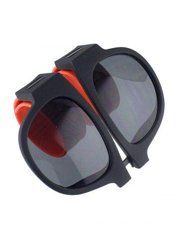 New Anti UV Flexible Leg Wristband Folded Sunglasses with Box - ORANGE  Mobile