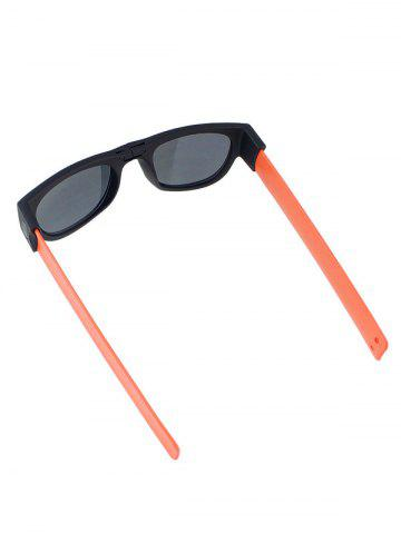 Affordable Anti UV Flexible Leg Wristband Folded Sunglasses with Box - ORANGE  Mobile