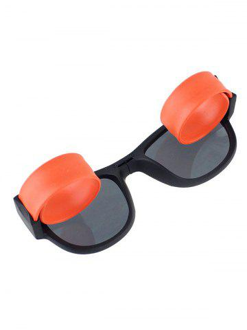 Latest Anti UV Flexible Leg Wristband Folded Sunglasses with Box - ORANGE  Mobile
