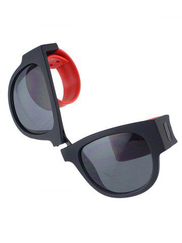 Buy Anti UV Flexible Leg Wristband Folded Sunglasses with Box - RED  Mobile