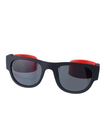 Affordable Anti UV Flexible Leg Wristband Folded Sunglasses with Box - RED  Mobile