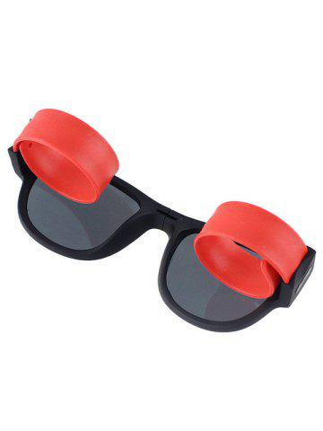 New Anti UV Flexible Leg Wristband Folded Sunglasses with Box - RED  Mobile