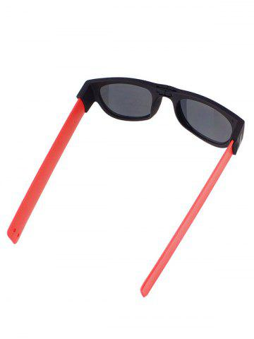 Trendy Anti UV Flexible Leg Wristband Folded Sunglasses with Box - RED  Mobile