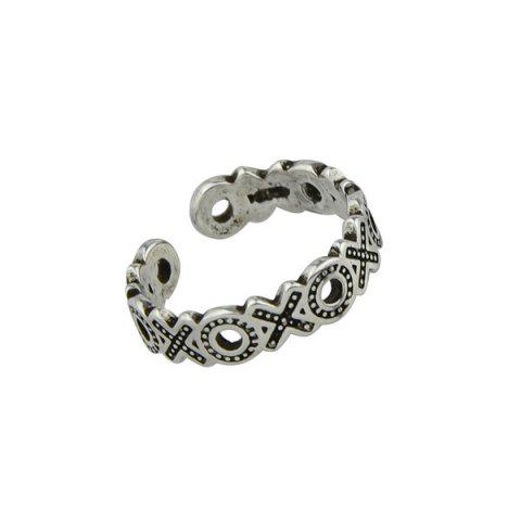 Best Engraved Circle Cuff Ring - SILVER  Mobile