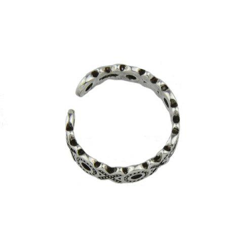 Cheap Engraved Circle Cuff Ring - SILVER  Mobile