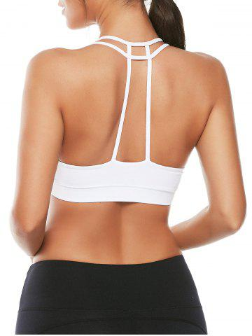 Outfit Caged Strappy Padded Sports Bra WHITE L