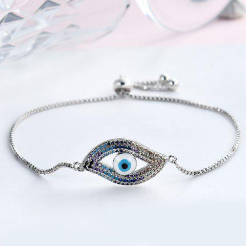 Affordable Rhinestone Devil Eye Embellished Bracelet - SILVER  Mobile