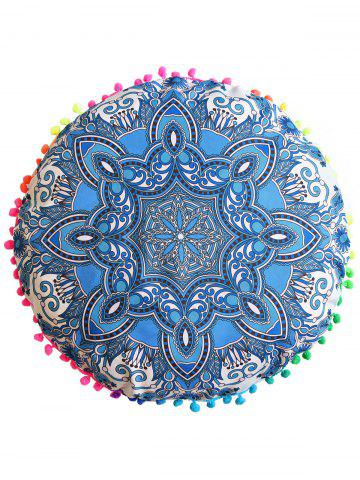 Affordable Mandala Print Round Throw Cover Pouf Pillowcase - DIAMETER: 45CM BLUE Mobile