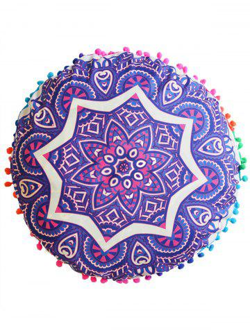 Latest Mandala Round Cushion Floor Pillow Pouf Cover - DIAMETER: 45CM PURPLE Mobile