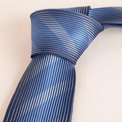 Best Diagonal Straight Stripe Mulberry Silk Tie - CADETBLUE  Mobile