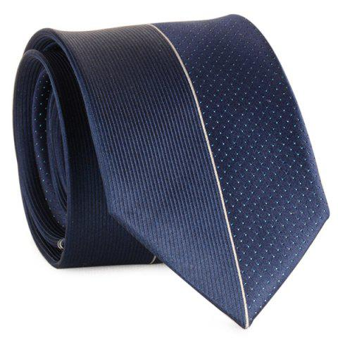 Trendy Tiny Dot Pinstriped Mulberry Silk Tie - CADETBLUE  Mobile